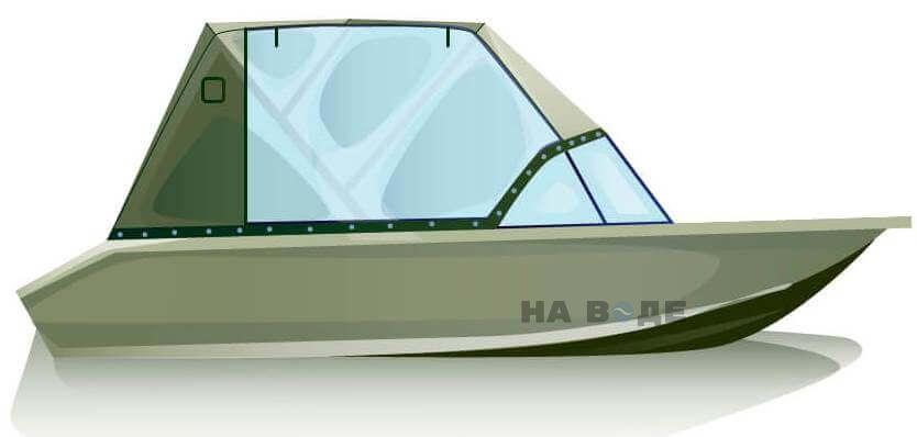 Ходовой тент на лодку Волжанка-46 (Классик) комплектация Капитан - фото 1