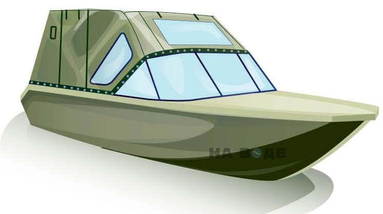 Ходовой тент на лодку Волжанка-46 (Классик) комплектация Комфорт - фото 2