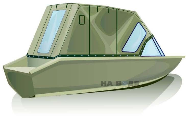 Ходовой тент на лодку Волжанка-46 (Классик) комплектация Комфорт - фото 3