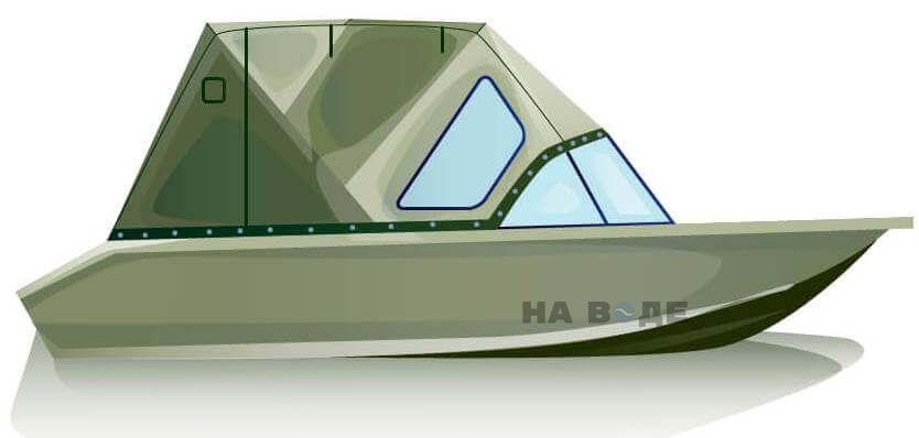 Ходовой тент на лодку Волжанка-46 (Классик) комплектация Стандарт - фото 1