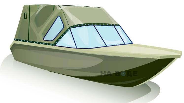 Ходовой тент на лодку Волжанка-46 (Классик) комплектация Стандарт - фото 2