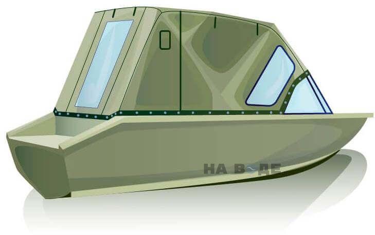 Ходовой тент на лодку Волжанка-46 (Классик) комплектация Стандарт - фото 3