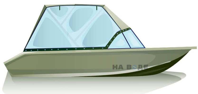 Ходовой тент на лодку Волжанка-46 (Классик) комплектация Универсал - фото 1
