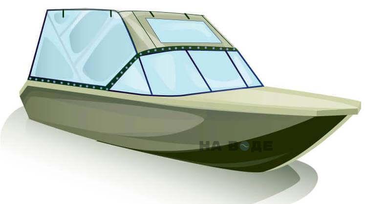 Ходовой тент на лодку Волжанка-46 (Классик) комплектация Универсал - фото 2