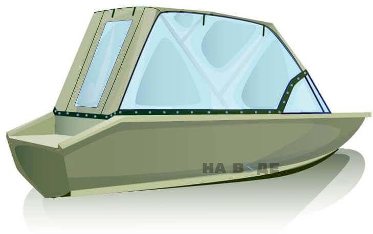Ходовой тент на лодку Волжанка-46 (Классик) комплектация Универсал - фото 3