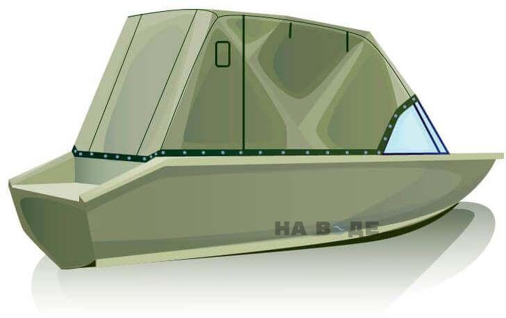 Ходовой тент на лодку Волжанка-46 (Классик) комплектация Эконом - фото 3