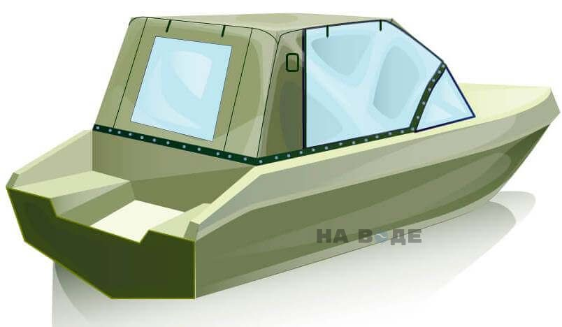 Ходовой тент на лодку Волжанка 51 (Фиш) комплектация Капитан - фото 3