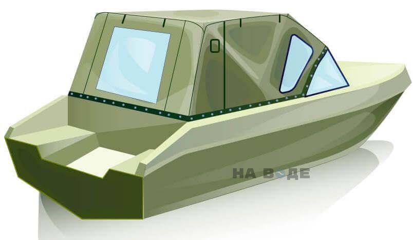 Ходовой тент на лодку Волжанка 51 (Фиш) комплектация Стандарт - фото 3