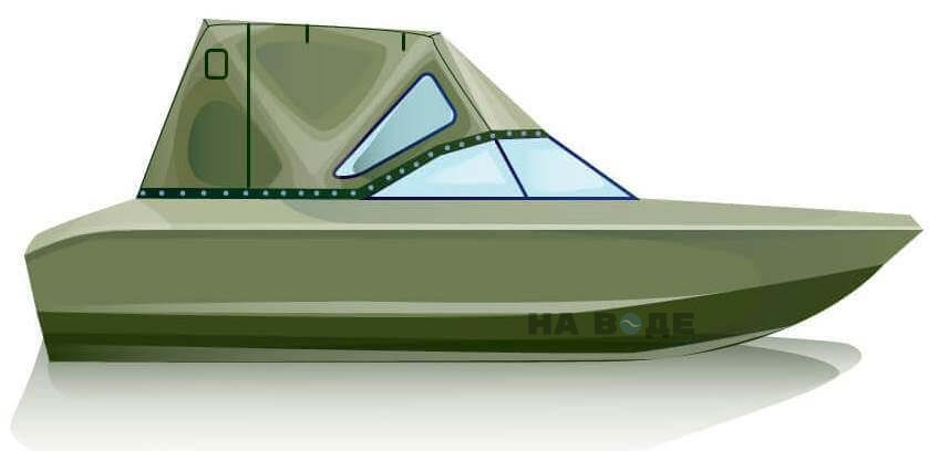 Ходовой тент на лодку Волжанка 51 (Фиш) комплектация Стандарт - фото 1