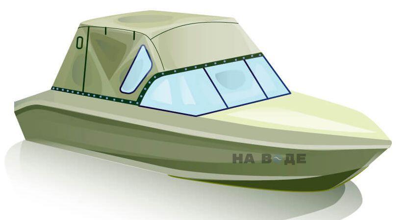 Ходовой тент на лодку Волжанка 51 (Фиш) комплектация Стандарт - фото 2