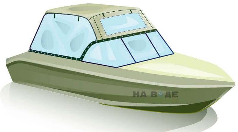 Ходовой тент на лодку Волжанка 51 (Фиш) комплектация Универсал - фото 2