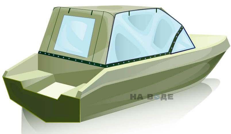 Ходовой тент на лодку Волжанка 51 (Фиш) комплектация Универсал - фото 3
