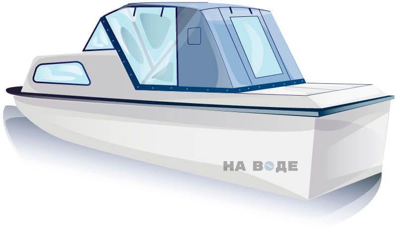 Ходовой тент на лодку Амур-2 комплектация Капитан - фото 2