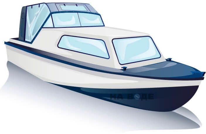 Ходовой тент на лодку Амур-2 комплектация Капитан - фото 3