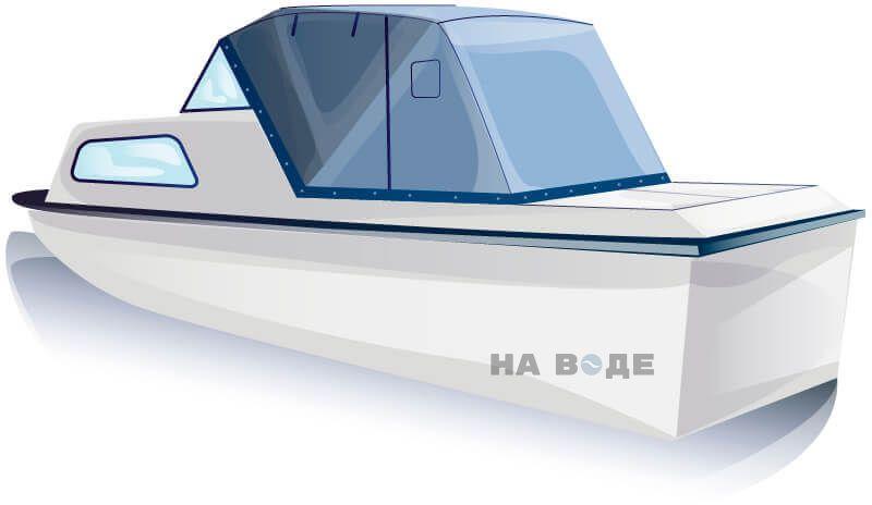 Ходовой тент на лодку Амур-2 комплектация Эконом - фото 2