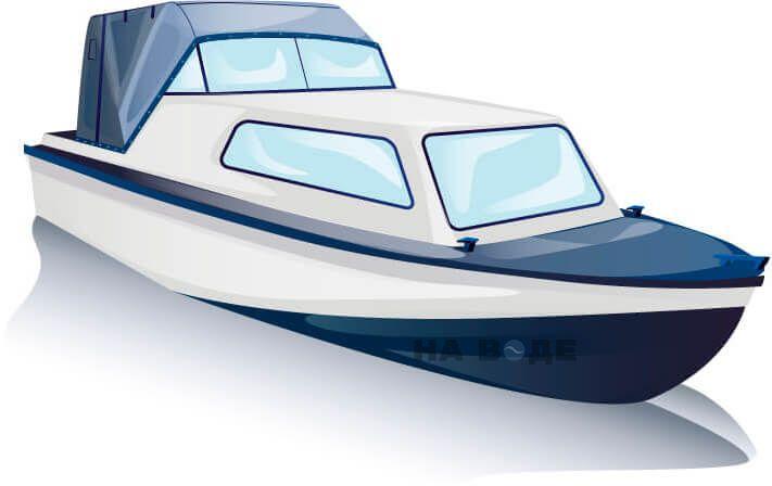 Ходовой тент на лодку Амур-2 комплектация Эконом - фото 3