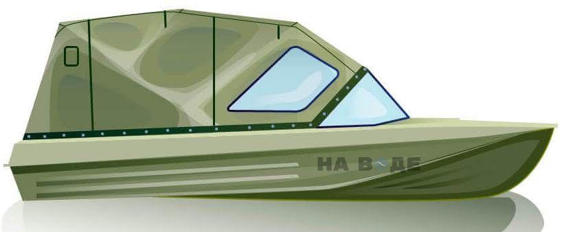 Ходовой тент на лодку Казанка-5М (длинный тент) комплектация Комфорт - фото 1