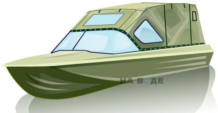 Ходовой тент на лодку Казанка-5М (длинный тент) комплектация Комфорт - фото 2