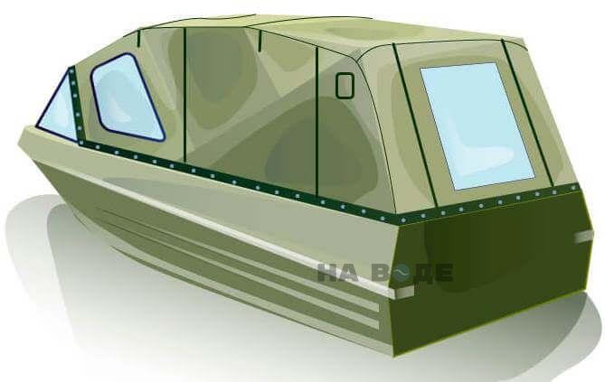 Ходовой тент на лодку Казанка-5М (длинный тент) комплектация Комфорт - фото 3