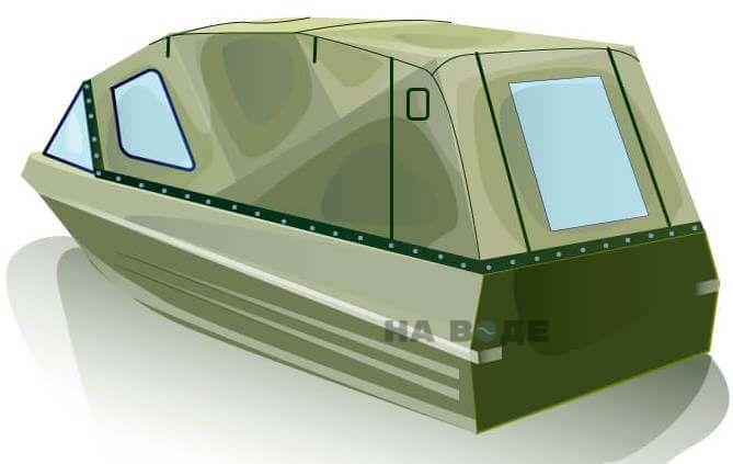 Ходовой тент на лодку Казанка-5М (длинный тент) комплектация Стандарт - фото 3