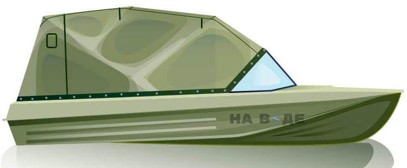 Ходовой тент на лодку Казанка-5М (длинный тент) комплектация Эконом - фото 1