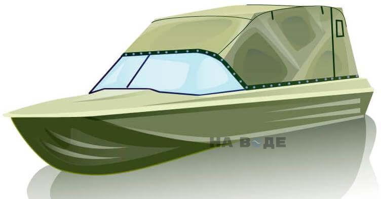 Ходовой тент на лодку Казанка-5М (длинный тент) комплектация Эконом - фото 2