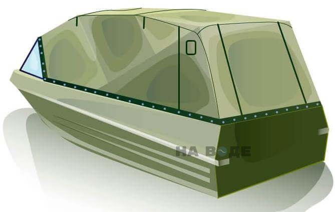 Ходовой тент на лодку Казанка-5М (длинный тент) комплектация Эконом - фото 3