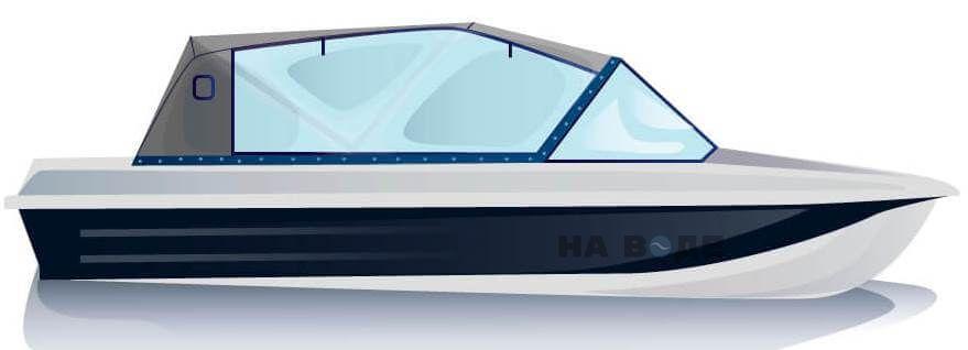 Ходовой тент на лодку Казанка-5М2 комплектация Капитан - фото 1