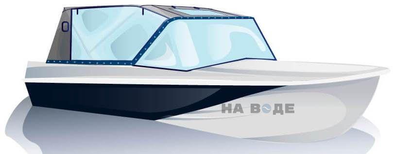 Ходовой тент на лодку Казанка-5М2 комплектация Капитан - фото 2