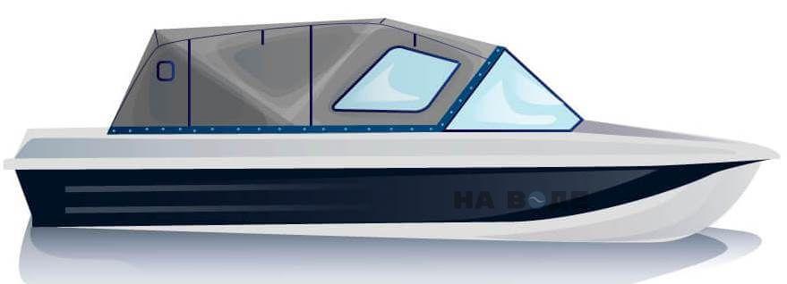 Ходовой тент на лодку Казанка-5М2 комплектация Комфорт - фото 1