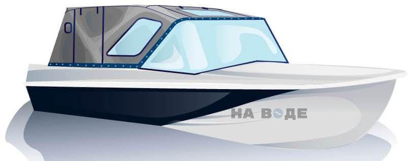 Ходовой тент на лодку Казанка-5М2 комплектация Комфорт - фото 2