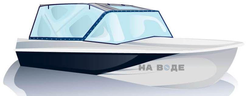 Ходовой тент на лодку Казанка-5М2 комплектация Универсал - фото 2
