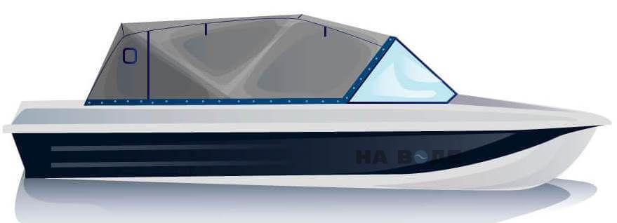 Ходовой тент на лодку Казанка-5М2 комплектация Эконом - фото 1