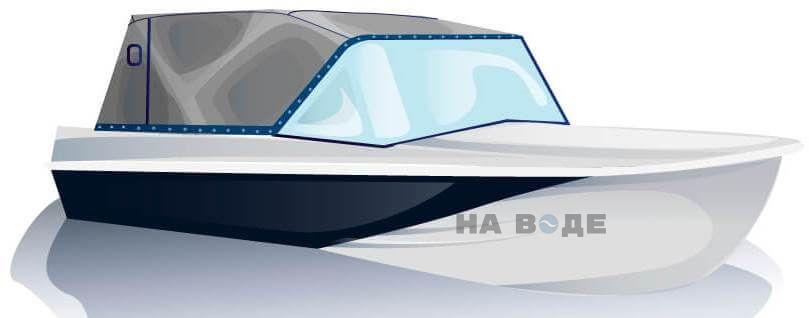 Ходовой тент на лодку Казанка-5М2 комплектация Эконом - фото 2