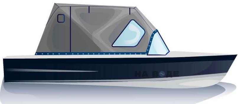 Ходовой тент на лодку МКМ (Ярославка) комплектация Стандарт - фото 1