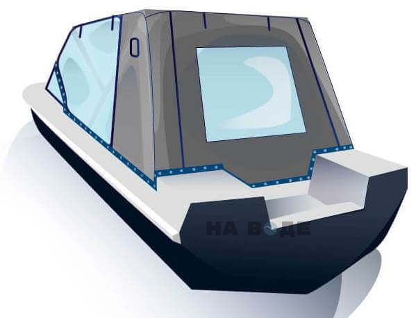 Ходовой тент на лодку Обь-3 комплектация Капитан - фото 3