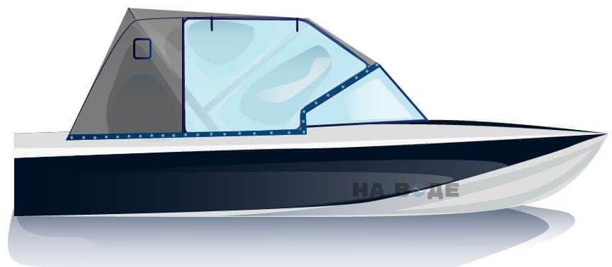 Ходовой тент на лодку Обь-3 комплектация Капитан - фото 1
