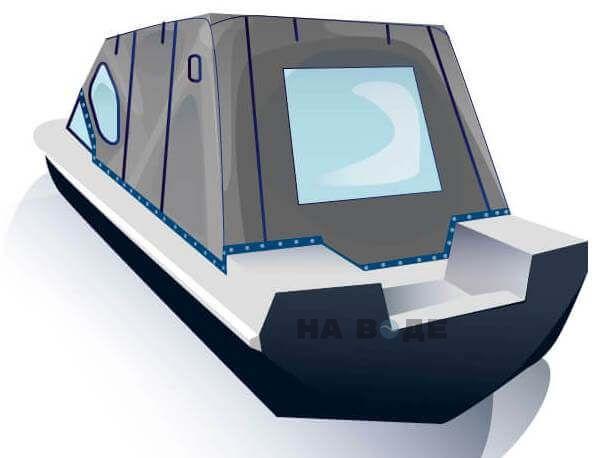 Ходовой тент на лодку Обь-3 комплектация Комфорт - фото 3