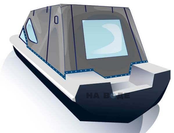 Ходовой тент на лодку Обь-3 комплектация Стандарт - фото 3