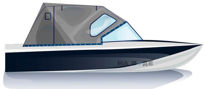 Ходовой тент на лодку Обь-3 комплектация Стандарт - фото 1