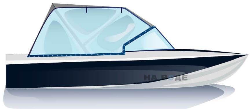 Ходовой тент на лодку Обь-3 комплектация Универсал - фото 1