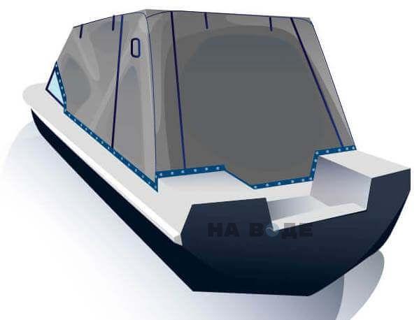 Ходовой тент на лодку Обь-3 комплектация Эконом - фото 3