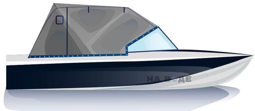 Ходовой тент на лодку Обь-3 комплектация Эконом - фото 1