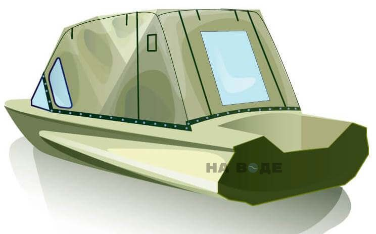 Ходовой тент на лодку Обь-1 комплектация Стандарт - фото 3