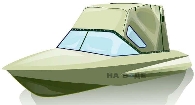 Ходовой тент на лодку Обь-1 комплектация Стандарт - фото 2