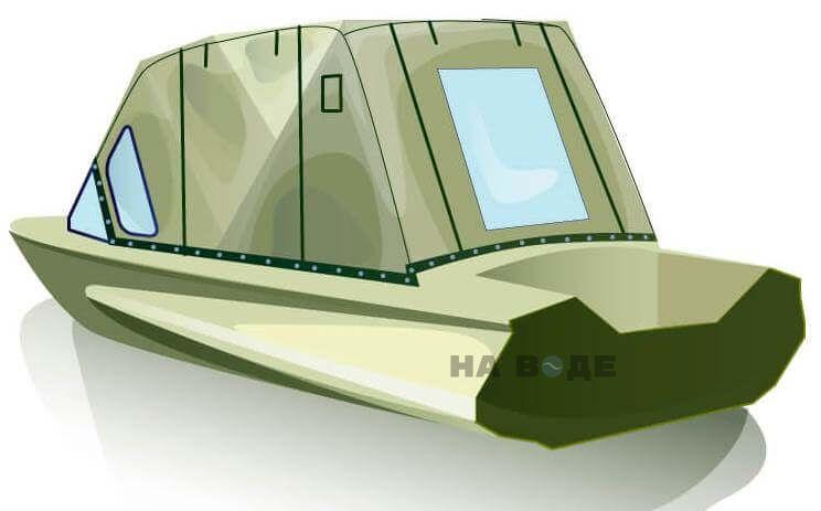 Ходовой тент на лодку Обь-1 комплектация Комфорт - фото 3