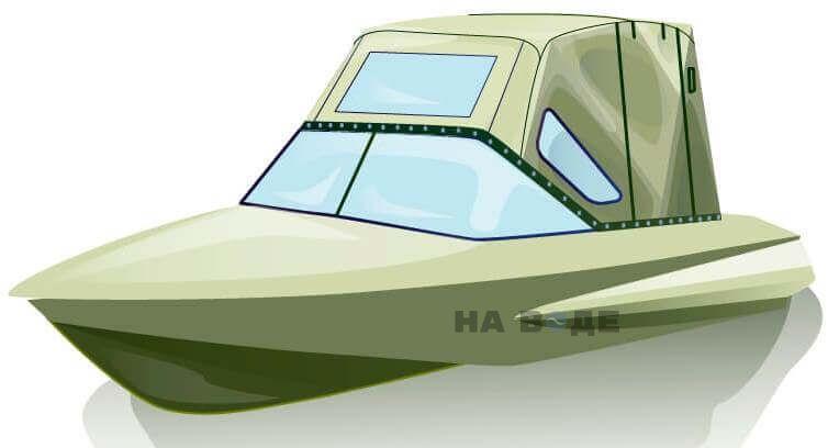 Ходовой тент на лодку Обь-1 комплектация Комфорт - фото 2