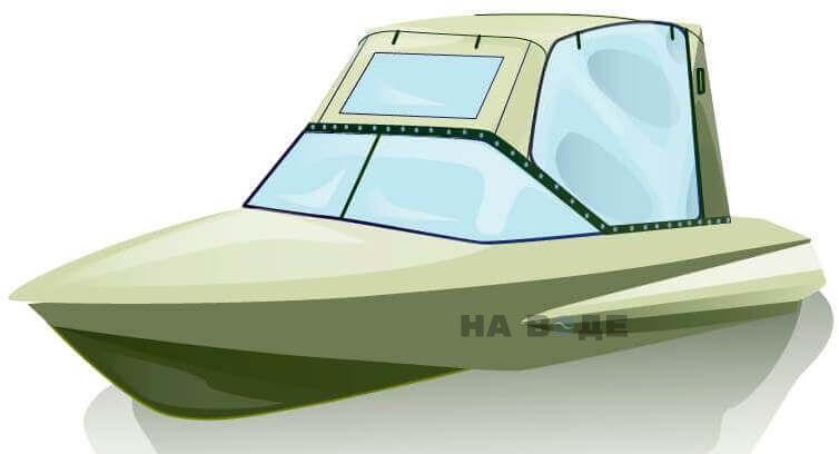 Ходовой тент на лодку Обь-1 комплектация Капитан - фото 2