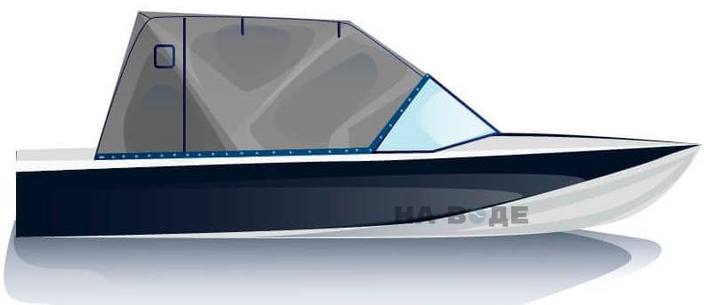 Ходовой тент на лодку Обь-М комплектация Эконом - фото 1