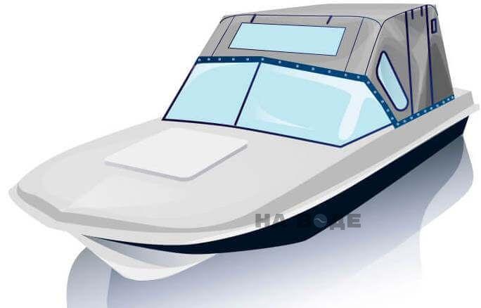 Ходовой тент на лодку Обь-М комплектация Комфорт - фото 2